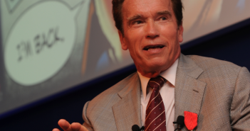 Arnold Scwharzenegger at Governator press conference