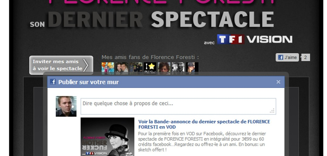 TF1 VOD Facebook