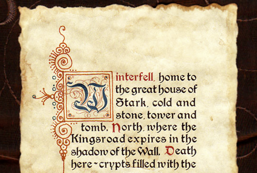 Game of Thrones parchment