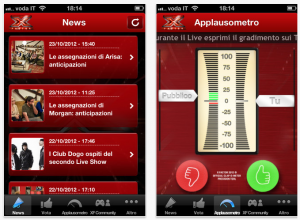 X Factor Italy mobile app