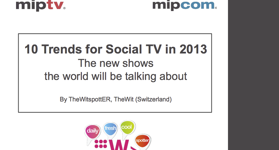 10 Trends for Social TV in 2013 - The Wit