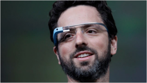 Picture of man using Google Glass