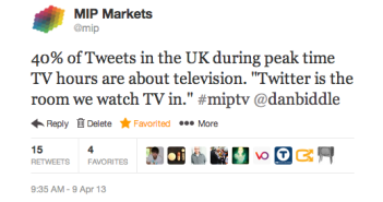 Twitter TV quote