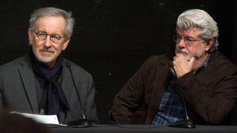 Stephen Spielberg and George Lucas