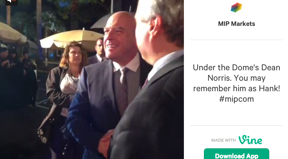 Dean Norris MIPCOM Red Carpet