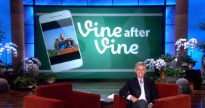 Ellen DeGeneres Show Vine first screen