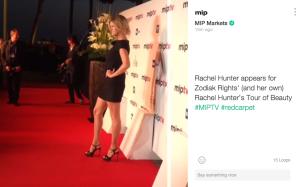 MIPTV Red Carpet Rachel Hunter