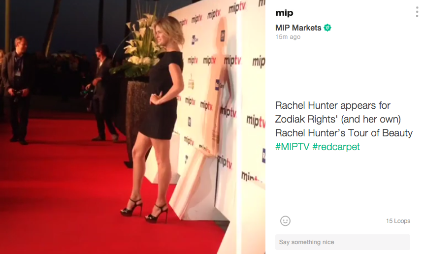 MIPTV Red Carpet Rachel Hunter