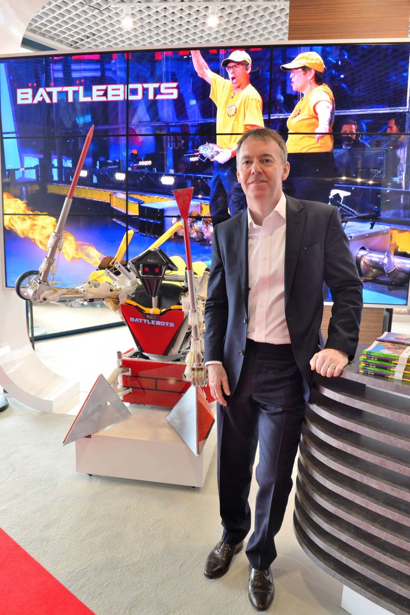 Sky CE Jeremy Darroch in the Palais for the announcement of Sky Vision's BattleBots deal