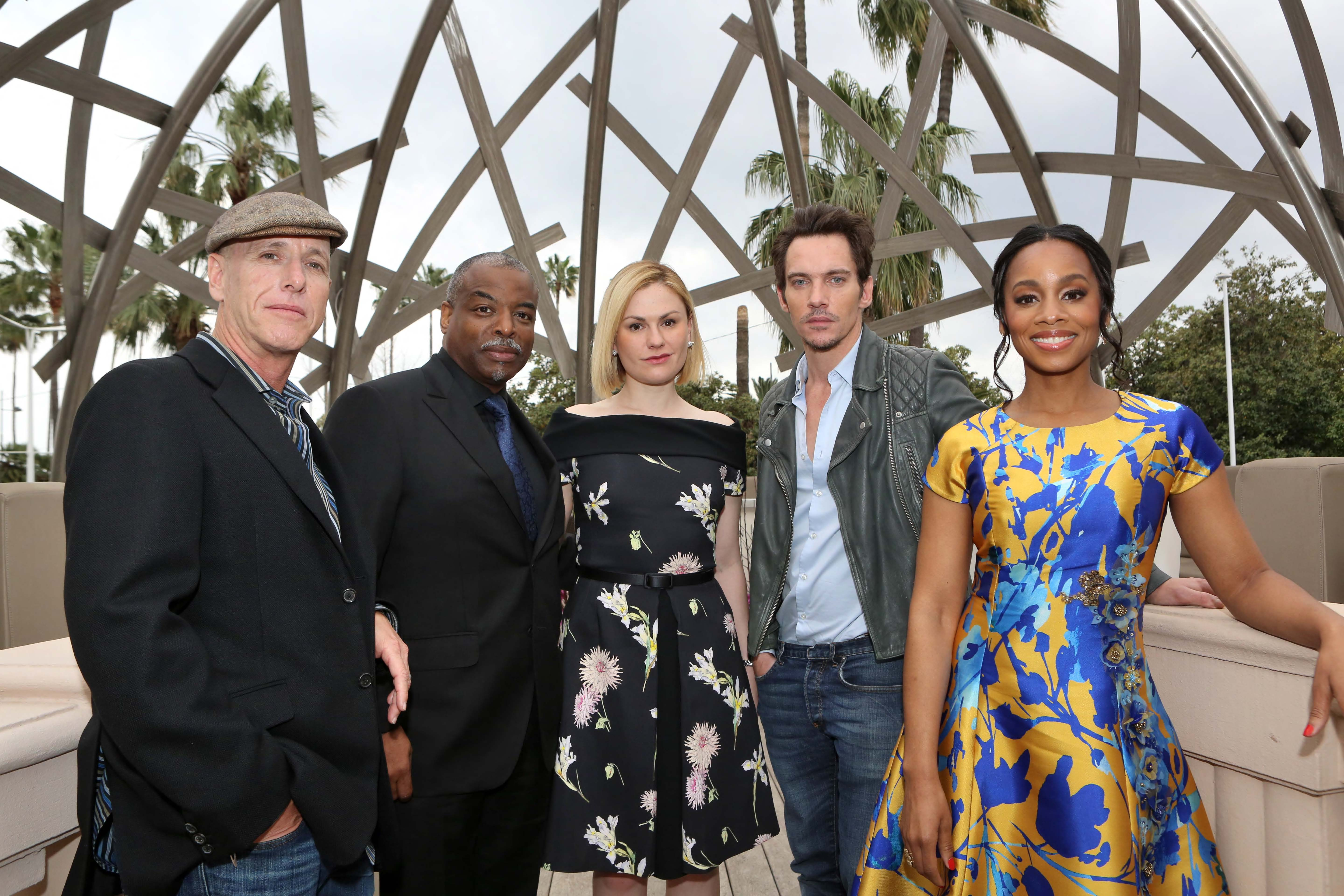 A+E's ROOTS: Mark Wolper, LeVar Burton, Anna Paquin, Jonathan Rhys-Meyers and Anika Noni Rose