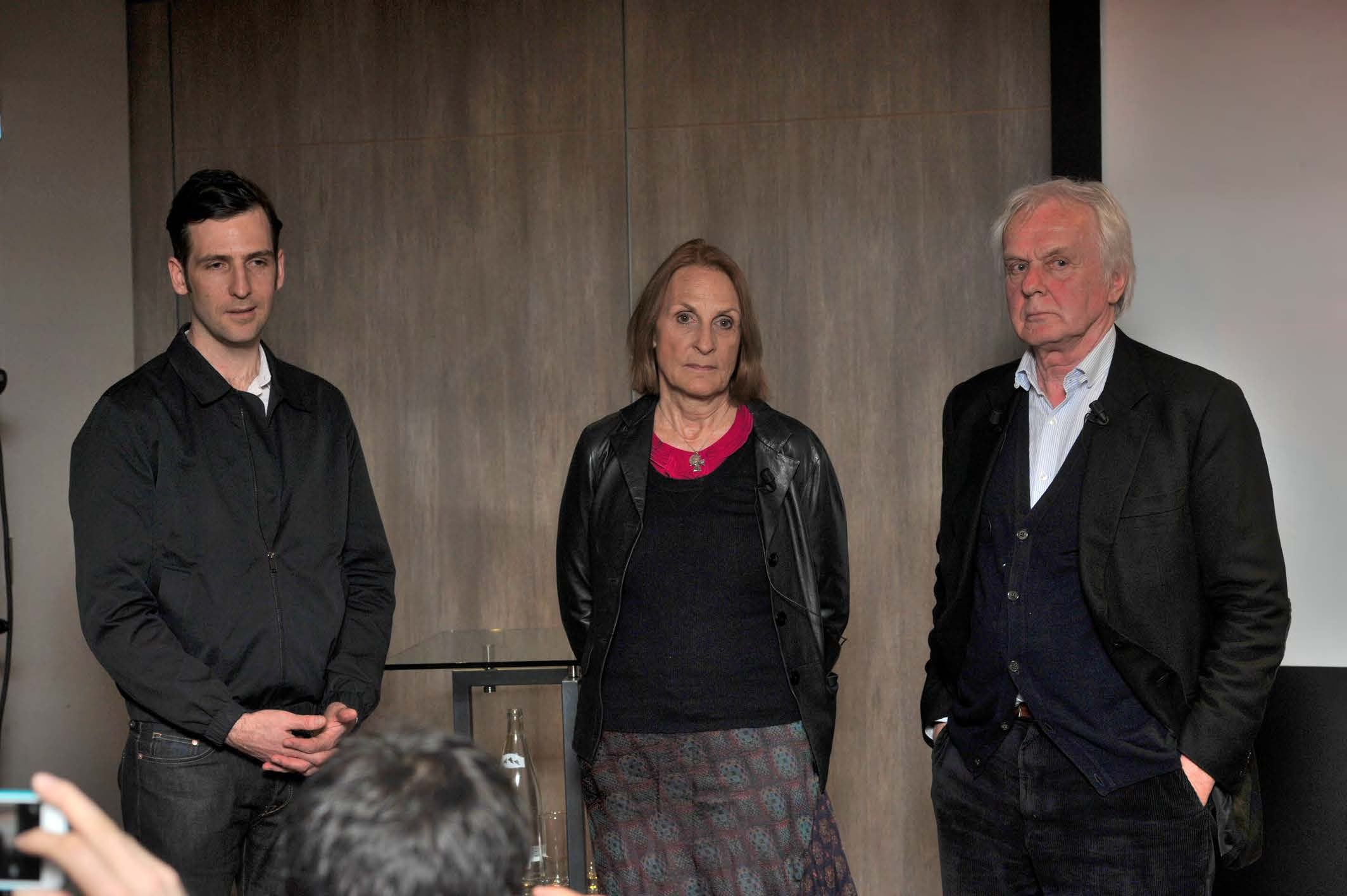 NSU director Florian Cossen (left) with producer Gabriela Sperl and Beta's Jan Mojto