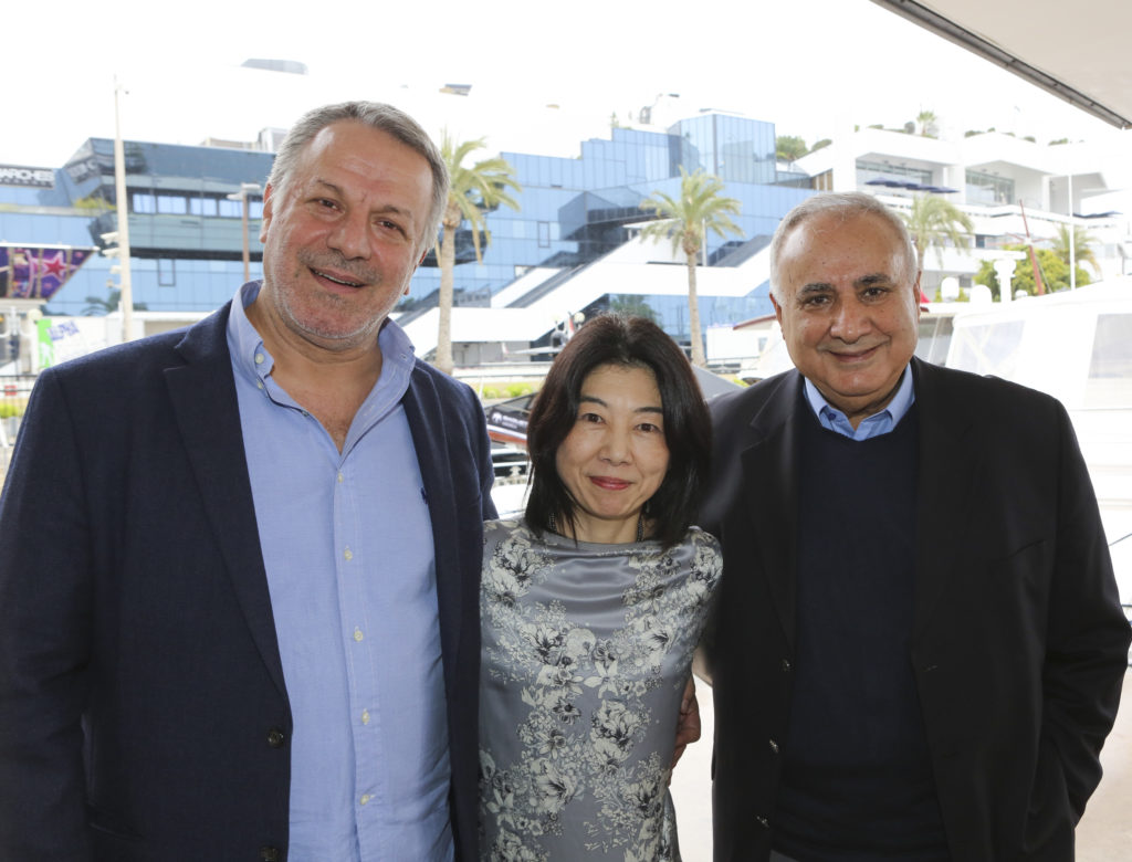 Medyapim's Fatih Aksoy (left), Nippon TV's Cindy Chino, and MF Yapim's Faruk Bayhan
