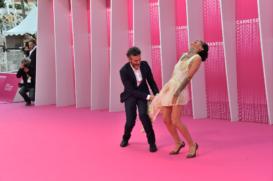 CANNESERIES Pink Carpet Félix actors