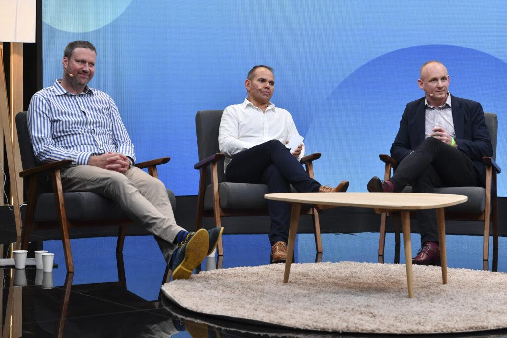 Peter Robinson (left), Adam Woodgate, Nick Richardson - MIPCOM 2021